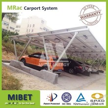 solar carport mounting system with high snow load