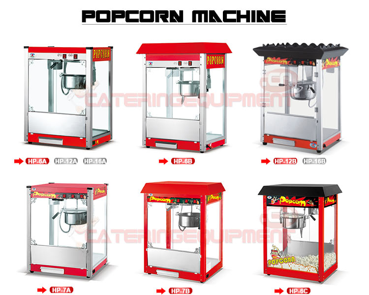 HW-P8 8 Oz Commercial Popcorn Machine