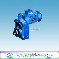 F series Parallel shaft solid shaft helical gearbox with motor unit