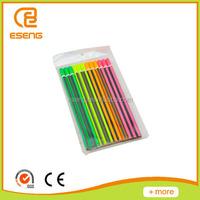 12 promotional print color wood pencil set for sale