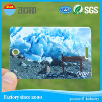 Beautiful looking creative transparent double luggage pvc card