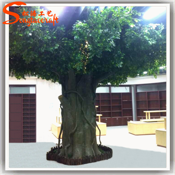 Pour restaurant d coration murale arbre artificiel trunk for Alif tree french cuisine
