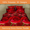latest design 3d floral printed bed sheet manufacture in china