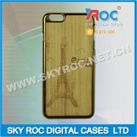 High quality mobile wooden phone case/shell,bamboo phone case/shell, engraving your own design for iphone 6 plus