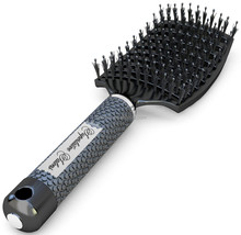 Boar Bristle Brush Best at Detangling Thick Hair Vented For Faster Drying