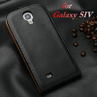China Factory Supply Rainbow Colors Genuine Leather Innovative Smart Simple Design Phone Case Flip Cover for Samsung Galaxy S4