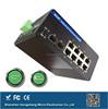 5 years warranty IP 40 DIN-rail 1000M Industrial grade 8 ports Industrial PoE Switch