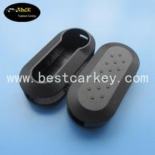 Topbest black key case for fiat 500 key replacement shell key fiat 500
