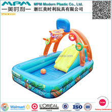 Customized inflatable basketball pool for fun