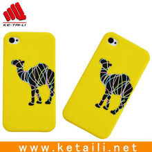 custom high grade Silicone mobile cover for iphone 4 with animal pattern cell phone case