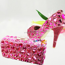 Fashion Heels Wholesale Shoes dyeables wedding shoes Handmade Crystal Shoes