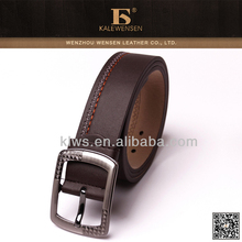 special designed pin buckle pu belt for man