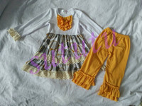 Lovey outfits private label cloting manufacturers boutique christmas clothing little girls wholesale children clothing usa