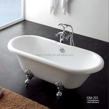 DOMO cast iron enamel corner bathtub
