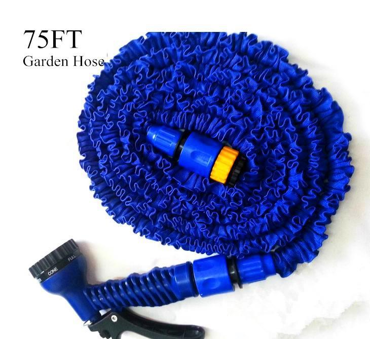 высокое качество садового шланга 50 футов воды садовый шланг синий с воды клапан + пистолет с ЕС нам разъем, видел по телевизору