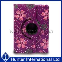 Diamond Flower Revolving Tablet Case For iPad Mini