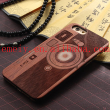 New Design Mobile Accessories Laser Engraving Plastic Radio Wooden Cell Phone Case For iPhone 6S Case Logs Factory Price