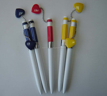 promotion advertising heart ball pen with magnet