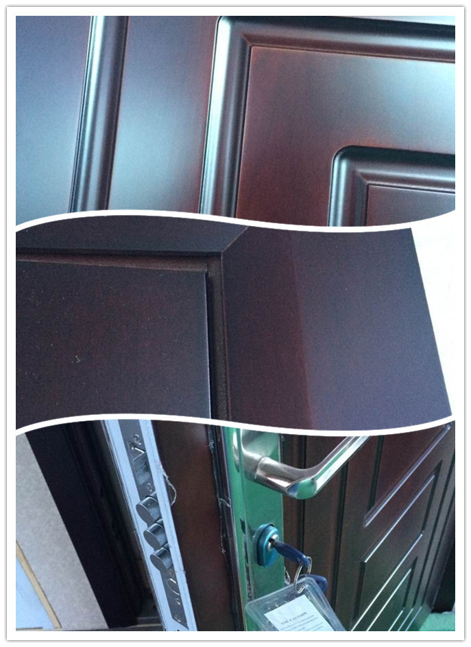 Flat design steel wood armored door entrance main door for Designs for main door of flat