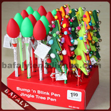 Promotion hot sell new style factory directly christmas tree pen,novelty christmas tree pen,LED flashing christmas tree pen