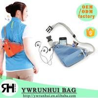 china wholesale Triangle sport waist bag fanny waist pack running belt with bottle holder