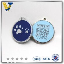 Wholesale soft enamel laser the only qr pet tag and ID pet tag