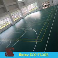 Green Litchi Grain PVC Sports Flooring Floor Mat for Indoor Badminton Court