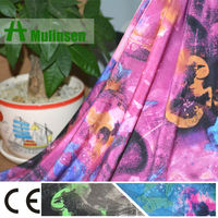 Mulinsen Textile Knitting FDY Printed Polyester Elastin Fabric