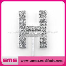 nuevo diseño de diamantes de imitación de adorno de torta de la boda para