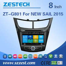 Car DVD player Car radio gps For NEW SAIL 2015 with Win CE 6.0 system 800MHz MCU 3G Phone GPS DVD BT