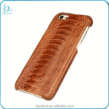 Luxury quality real ostrich skin genuine ostrich leather case for iphone 6