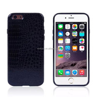 Luxury TPU+PC+PU smart phone protector back case cover for Apple iPhone 6s