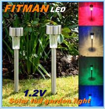 2015 Hot 1.2V stainless steel LED Solar Garden Light