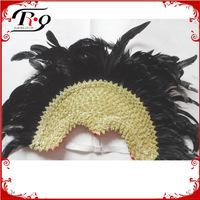 mardi gras black carnival headdress