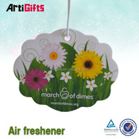 Wholesale promotion flowers fruit scents paper air freshener best selling