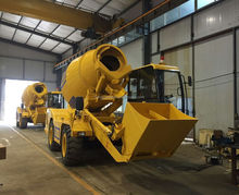 Hydraulic Loading, mixing, moving, discharing self loading concrete mixer machine price
