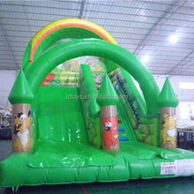 tree inflatable slide , NO.1409 top quality pirate ship inflatable slide