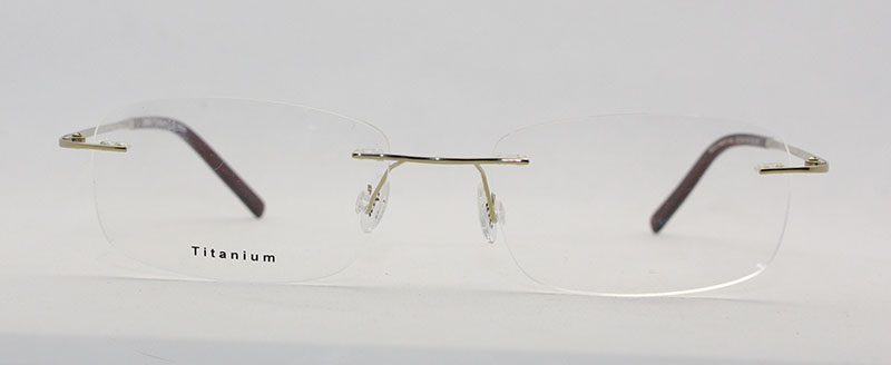 Rimless Glasses En Espanol : Wenzhou High Standard Fancy Design Gold Rimless Titan ...