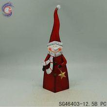 wholesale christmas arts supplies of christmas red iron snowman decor