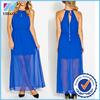 Yihao 2015 Halter sexy summer woman dress, fashion lady/female clothes wholesale, chiffon sexy long/maxi dress