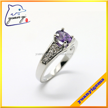 Micro pave setting 18K gold plated Copper Alloy CZ finger rings