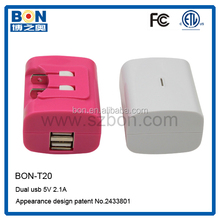 New Style 5A 2000MAH Dual USB Portable Office and Home Mobile Travel Charger