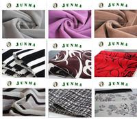 100% Polyester Stripe Pattern Print Flocking Sofa Fabric,Flock on Flock Uphlostery Fabric