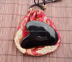 Chinese traditional obsiddian jade stone gua sha board gua sha massager