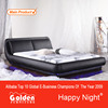 Latest design american style bed with led lights