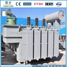 three phase oil immersed no-excitation voltage-requlating power transformer