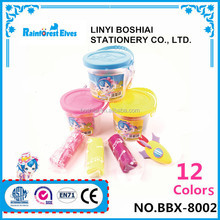 Chinese cheap play dough with plastic container wholesale