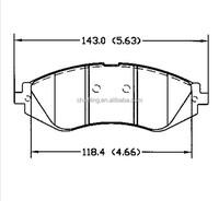 best brakes D1035 S4510019 for CHEVROLET SUZUKI Daewoo Pontiac front ATE brake pads