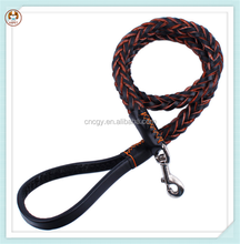 High Quality Braided Leather Leashes,soft dog leash leather