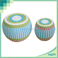 SD hot sale colorful rattan luxury garden stools